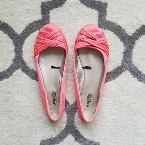 Charlotte Russe Satin Flats Pink {8}